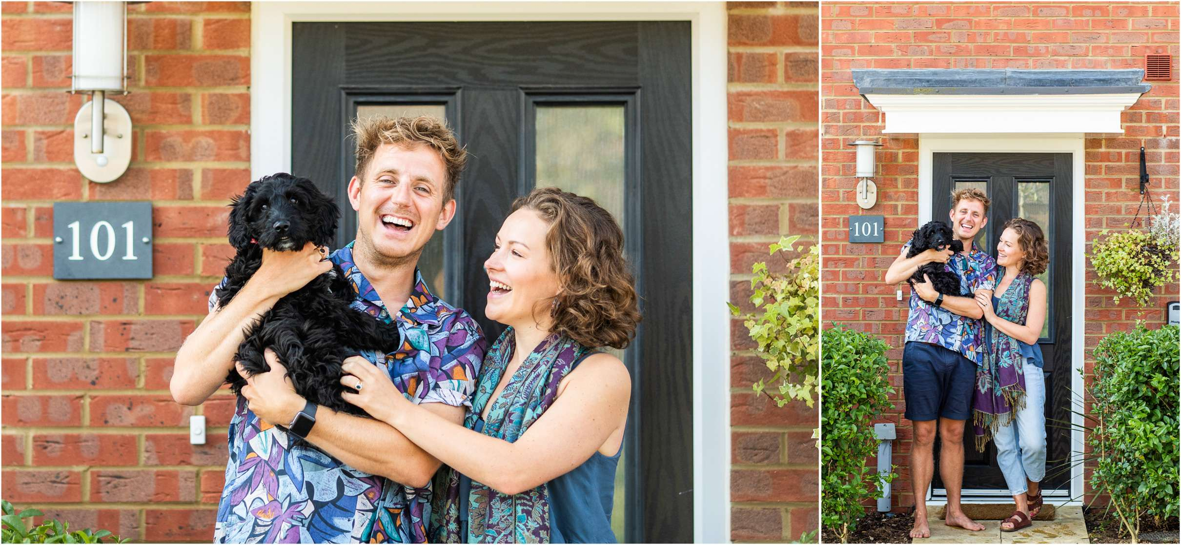 A doorstep family portrait photo in chichester