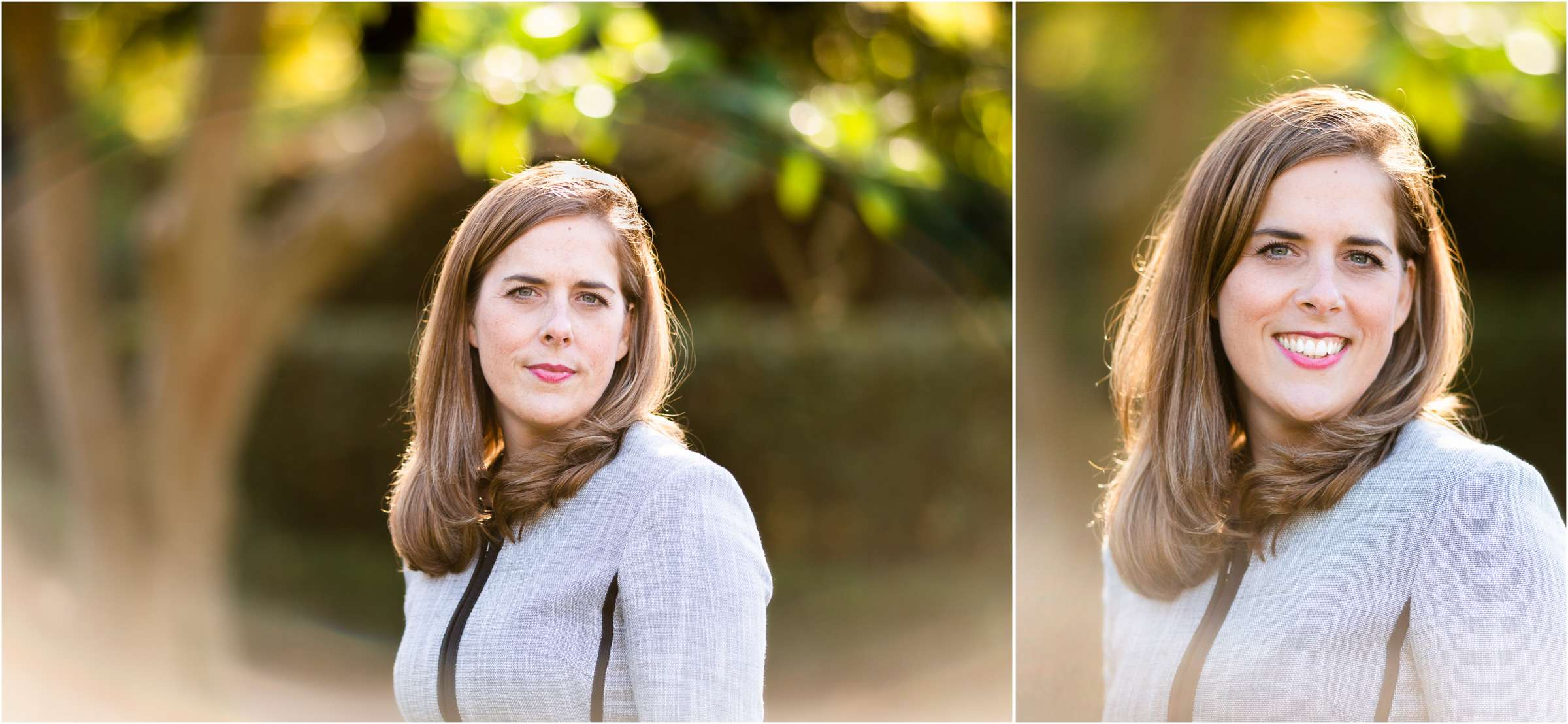 A montage of two headshot portrait images taken in Chichester, West Sussex