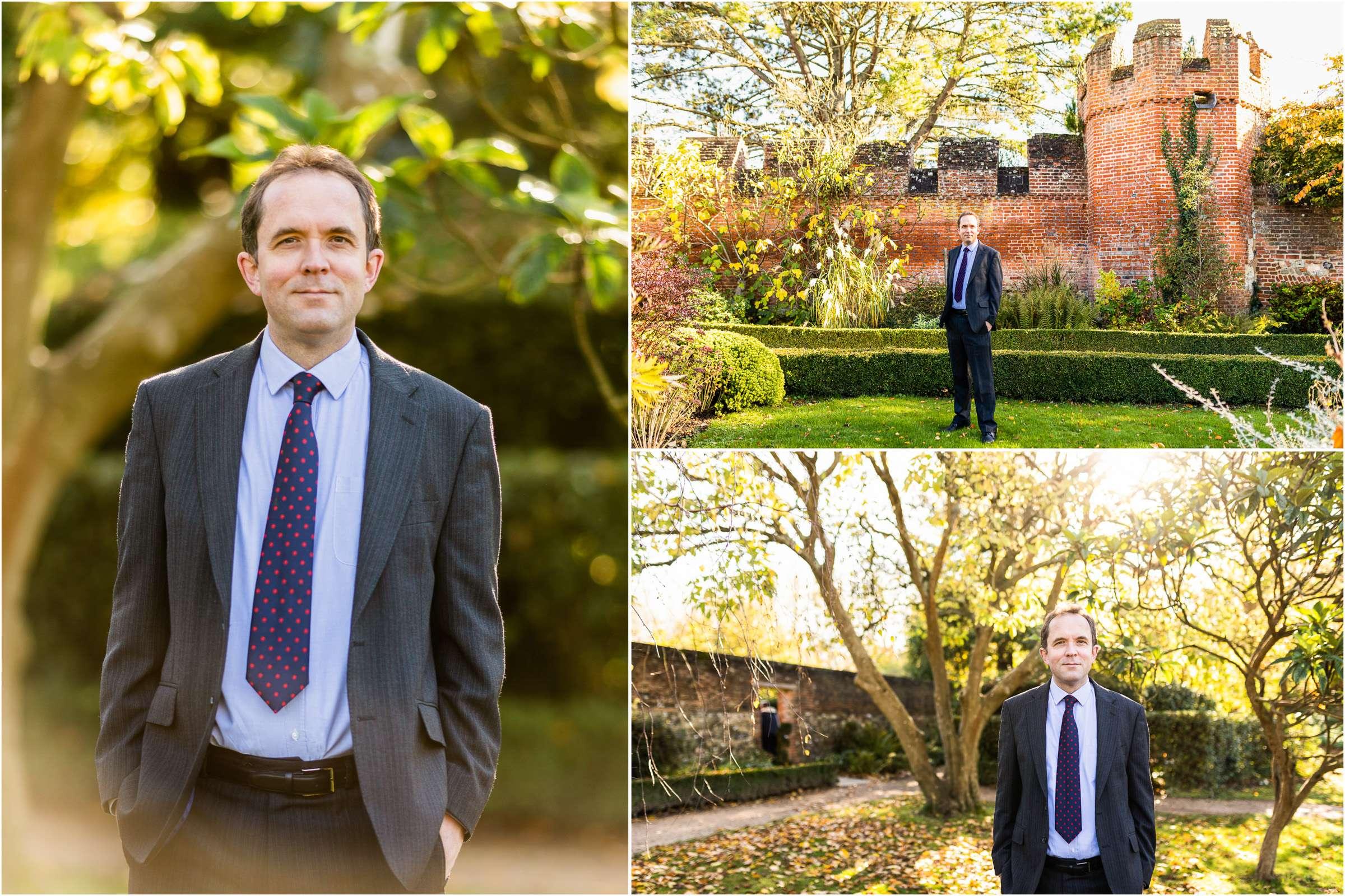 A montage of three headshot portrait images taken in Chichester, West Sussex