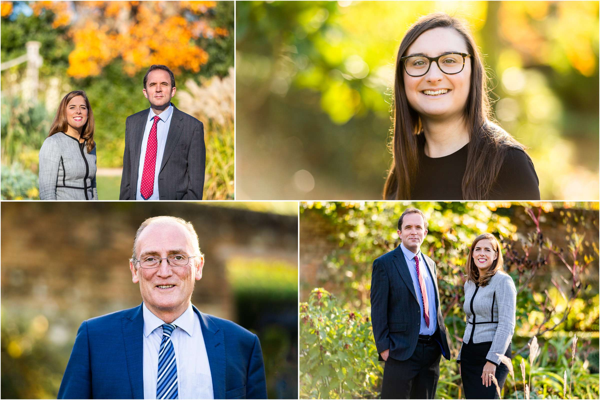 A montage of four headshot portrait images taken in Chichester, West Sussex
